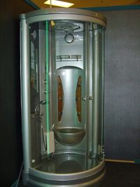Ultra modern Shower-jet cubicle installed by A.D.C. House Styles Ltd.